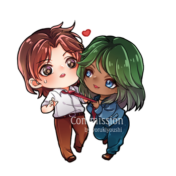 [Commission] Kiddy and Ralph by YoruKiyoushi