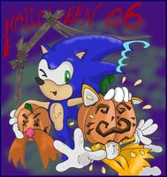 Sonic and Tails Halloween by stec-corduroyroad