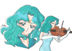 Sailor Neptune and Michiru by IlariaSometimes