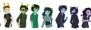 all of my fantrolls, ALL OF THEM by Flamingo-sama