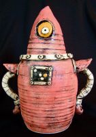 robot cookie jar complete by thebigduluth