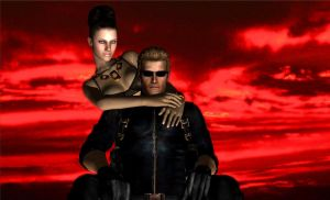 Dark master and his right hand: Wesker X Excella by LarsJunFan