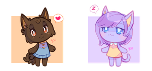 ACNL Com - Chocolate Pom + Sleepy Cat by pekou