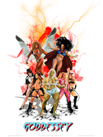 Superheroines of Goddessey Cover By sgcaio by zenx007