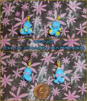 Sonic - Chao Charm Earrings by YellerCrakka