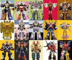 Megazords combined with 6th Ranger Megazords by ChipmunkRaccoon2