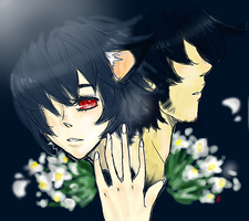 wolf children, Ame and his father by claudeekuru-chan