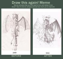Draw this again meme by kumo-e