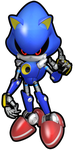 Metal Sonic (outline) by JaysonJean