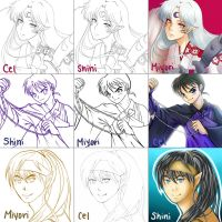 Switch Around Meme: Inuyasha by Cel-C