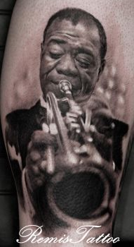 Louis Armstrong by Remistattoo