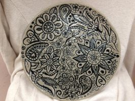Fanciful Flowers Platter by MerakiMudworks