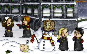 Christmas at Hogwarts by Harry-Potter-Spain