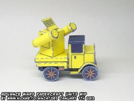 Advance Wars papercraft Yellow Comet Missile unit by ninjatoespapercraft