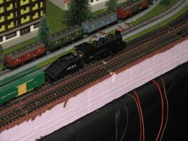 Bachmann Switcher and Marklin Compartment Coaches by TaionaFan369