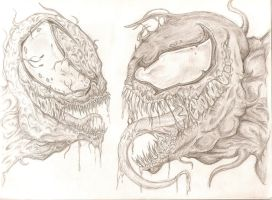 Carnage and Venom Face-Off by drgknot