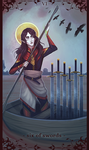 Tarot commission - six of swords by Serpentwined