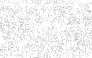 SO MANY HEDGEHOGS! 8D by FritzyBeat