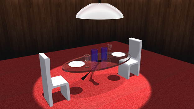 3D Modelling - Dining Set by Cheejyg