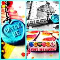 Cute Packet Of Love Hearts Candy Necklace by xhellojackiex