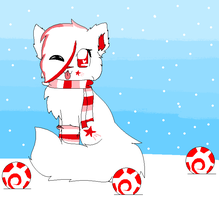{Art Trade with BlossomTehKat}-Peppermint Winter!! by xXPastelWishesXx