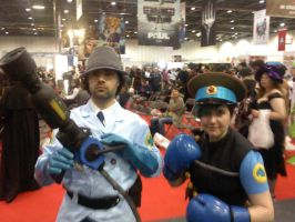 TF2 medic and heavy cosplay by myistic