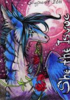 ACEO - She the Isvoc by Grypwolf