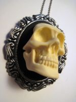 Hi profile steam punk skull cameo by slinkskull