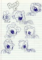 the mane 6 plus spike by uladmizzvamp