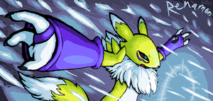 Renamon -DIAMOND STORM- by KosenWing