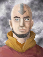 Adult Aang by Speck--Of--Dust