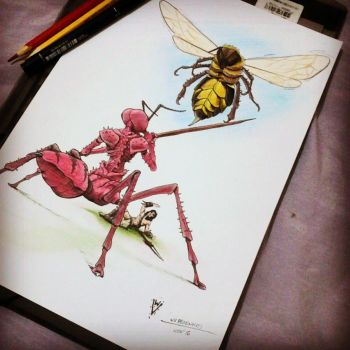 Formian and Giant Bee by Mirthol
