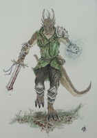 Kii-Nam the Argonian by TheShieldofOak