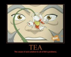 Tea Motavational Poster by ping600