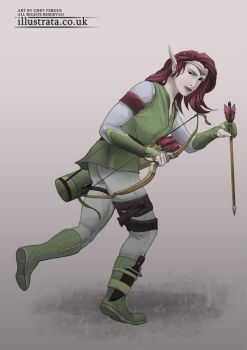 Arrow Elf (Character Design) by Chey-the-Illustrata