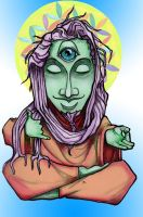 Hippy Buddha by j0epep