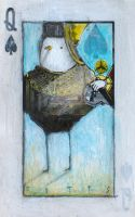 Bird- Queen of Spades ACEO by SethFitts