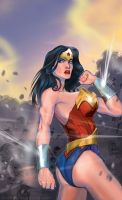 wonder woman, color by strib