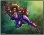 1511 Purple Superheroine by Jennysartwork