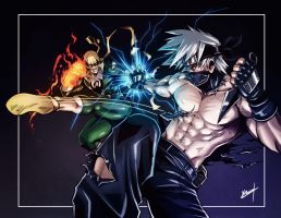 Kakashi vs Ironfist by Karosu-Maker