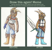 Before and After Meme: Robyn by Battynico