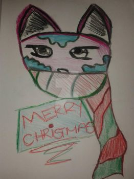 A quick sketch.  Christmas Greetings!^^. by CatgirlLizzie1234