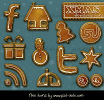 Gingerbread Free Icons by PsdDude