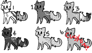 50 Shades of Grey Cats [ closed ] by opadopts
