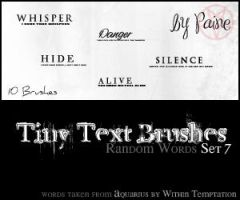 Tiny Text Brushes Set 7 by NemesisDivina666