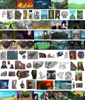 iScribble Collage by SunMoonDragoness