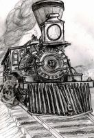 4-4-0 'American' Steam Engine by KEArnold