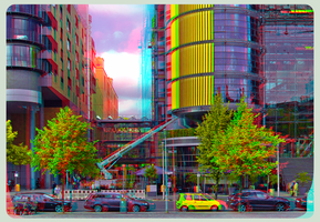 Paul Loebe House, Berlin :: 3D-DRI Anaglyph Stereo by zour
