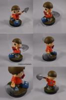 Villager Finds a Fossil Custom Amiibo by ChibiSilverWings