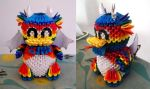 3D Origami Rainbow Dragon by OneLoneTree